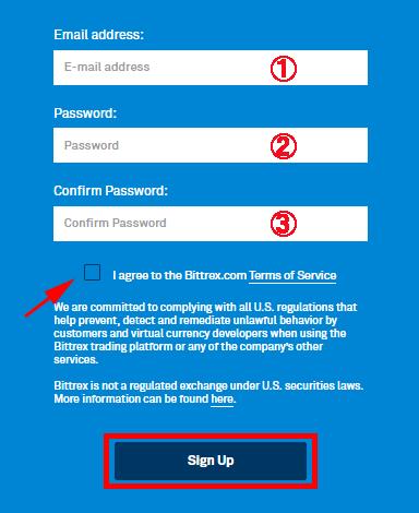 Bittrex(ビットレックス)の口座開設方法手順